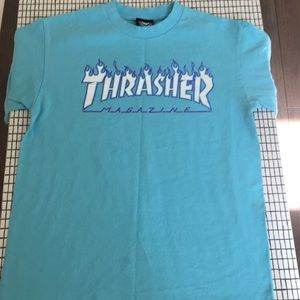THRASHER tee with purple outline (open to offers)